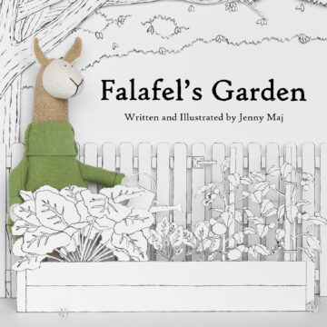 Fluffmonger Children's Book Part 4: A First Look at Falafel's Garden, Plus Another Free Coloring Page!