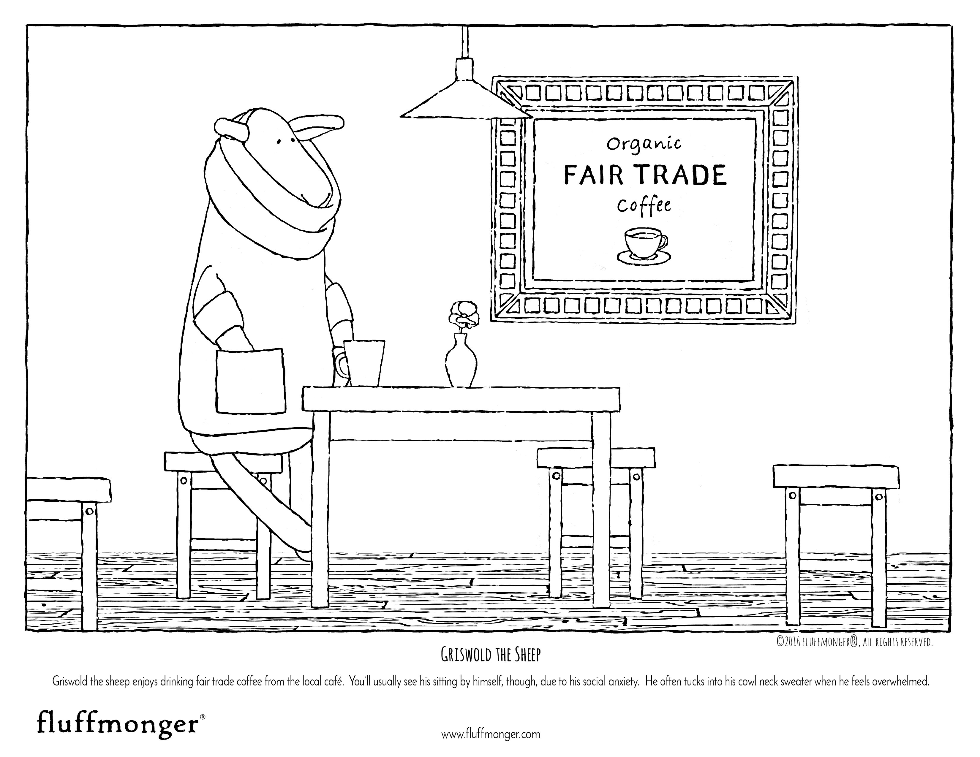 Organic Stuffed Animal Coloring Pages