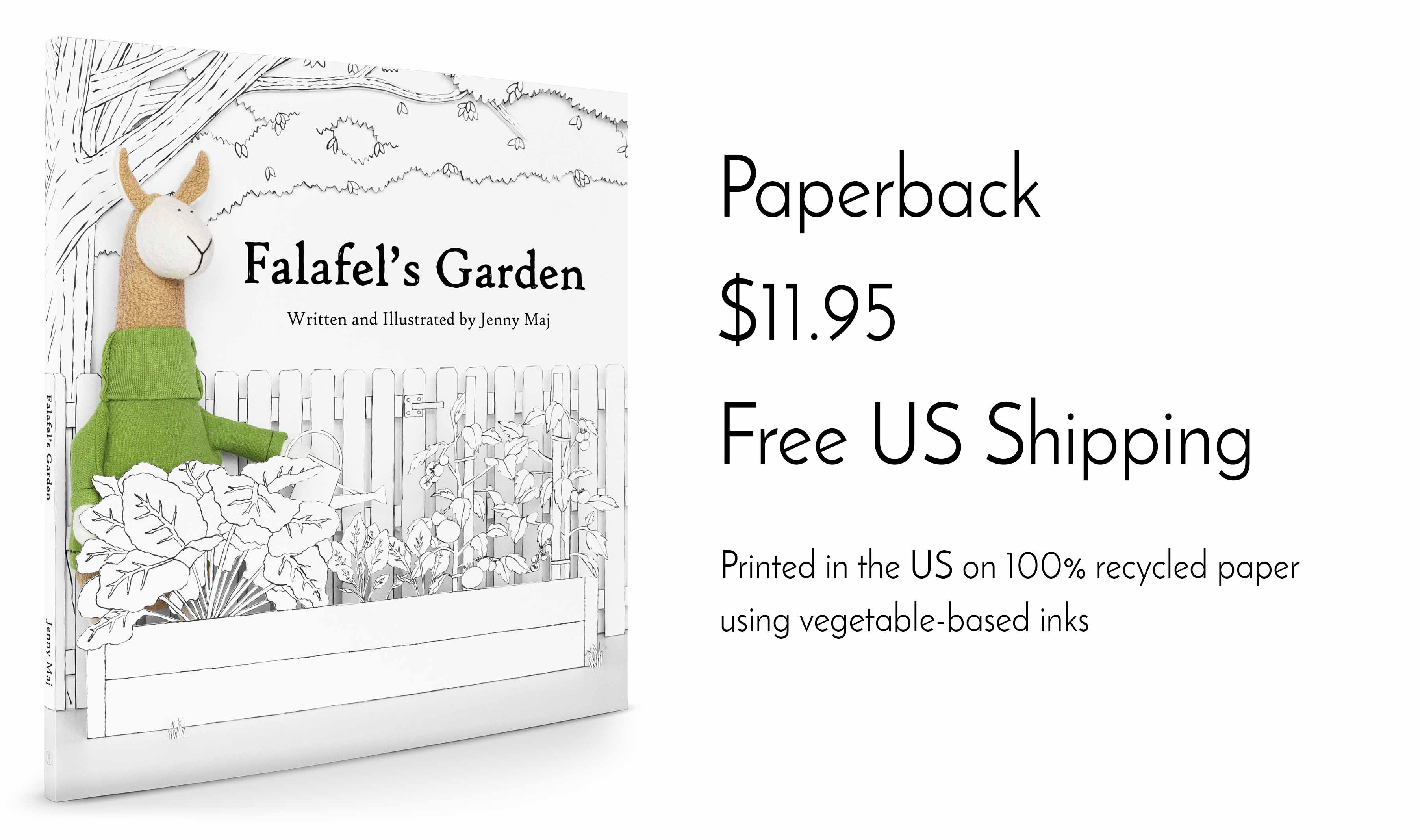 eco-friendly children's book Falafel's Garden Fluffmonger