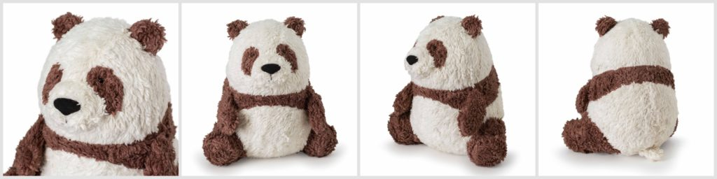 Qizai Brown Panda fluffmonger Organic Stuffed Animal