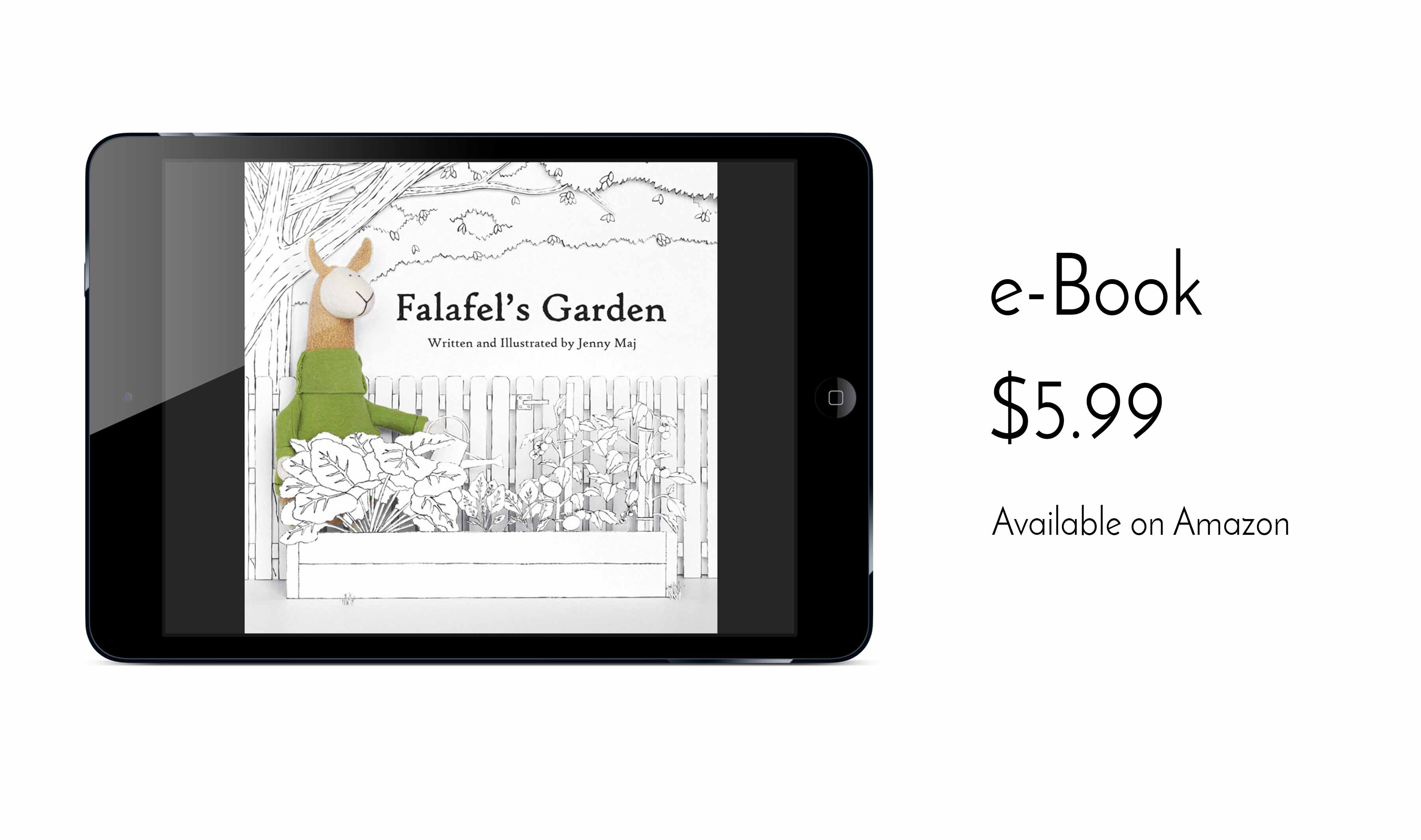 eco-friendly children's book ebook Falafel's Garden Fluffmonger