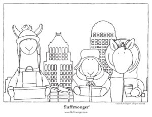 Thumbnail Fluffmonger Buy Local Season Free Coloring Page