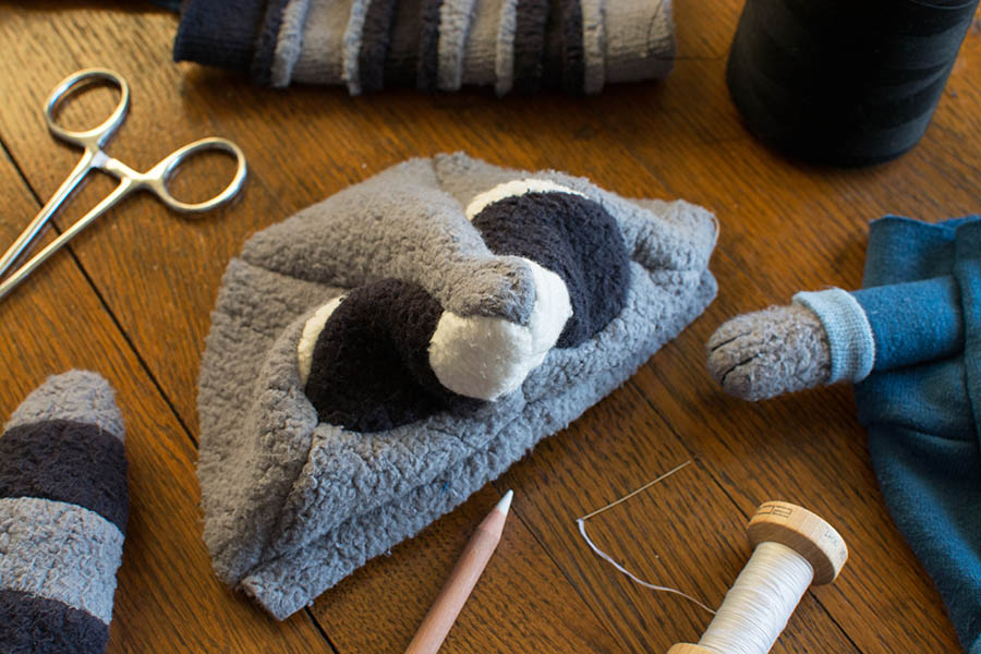 handmade organic raccoon beaver plush stuffed animal