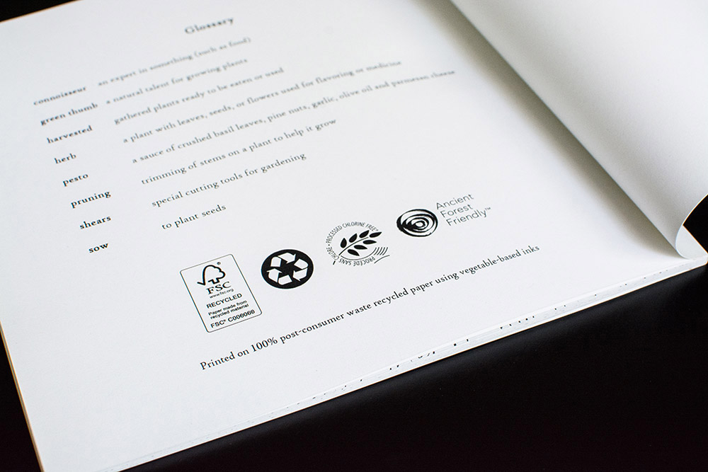 Printing Eco-Friendly Book fluffmonger