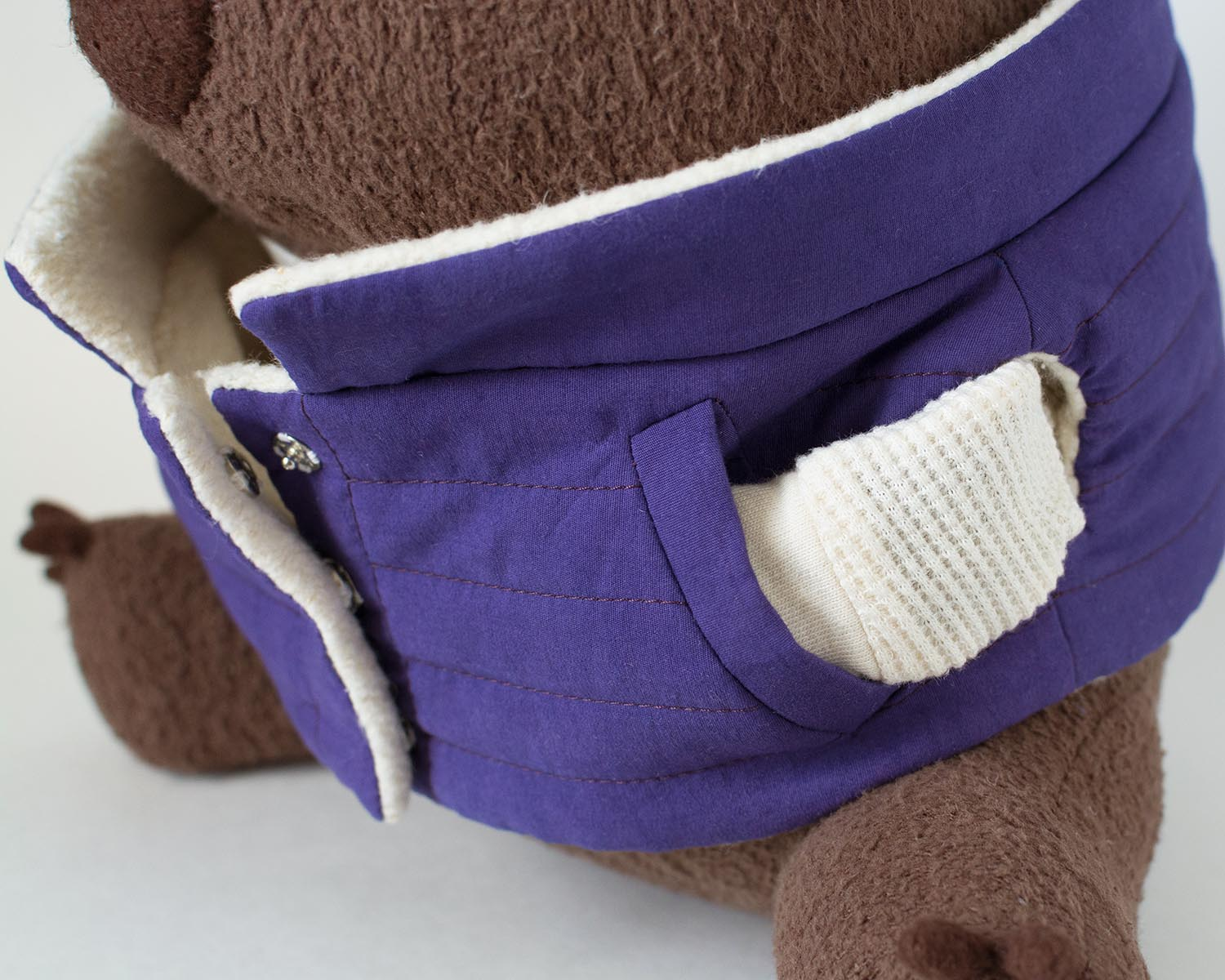 organic stuffed wombat plush pocket detail fluffmonger