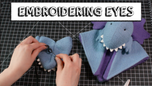 Video tutorial Embroidering Eyes on a Soft Toy Fluffmonger