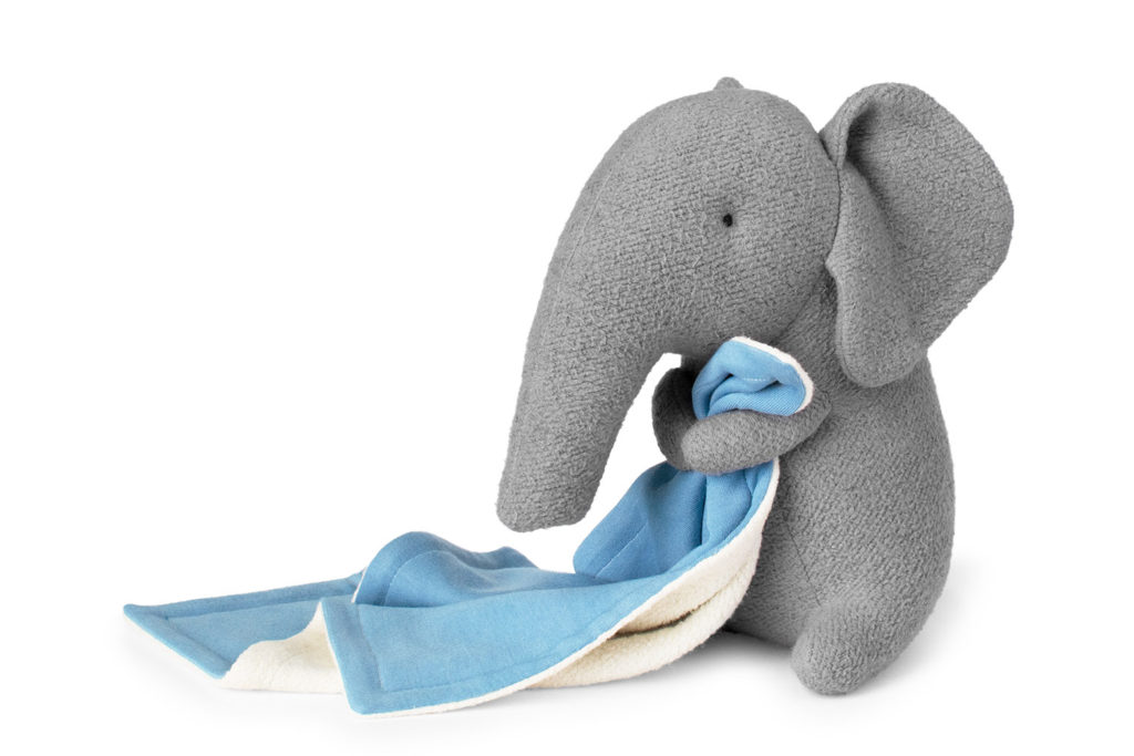 plush elephant sewing pattern and tutorial by fluffmonger
