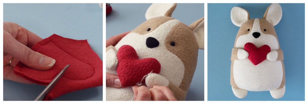 Free Corgi Sewing Pattern nd Tutorial by Fluffmonger