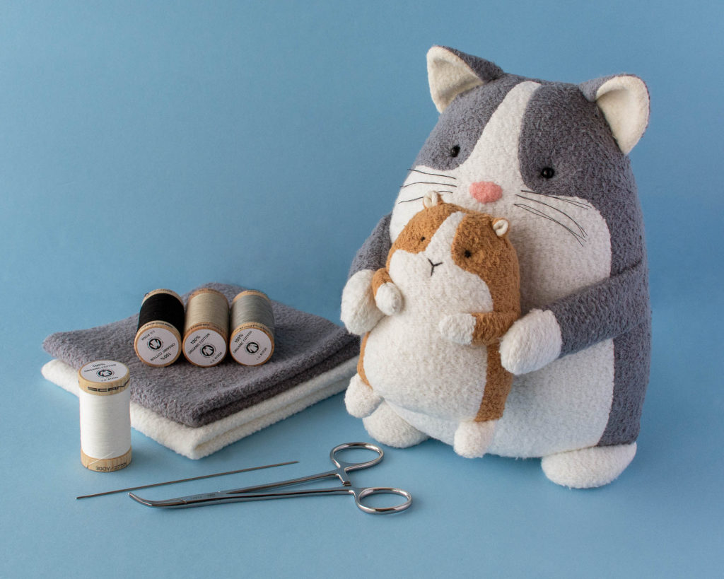 Cat sewing pattern guinea pig sewing pattern corgi sewing pattern organic fabric by Fluffmonger