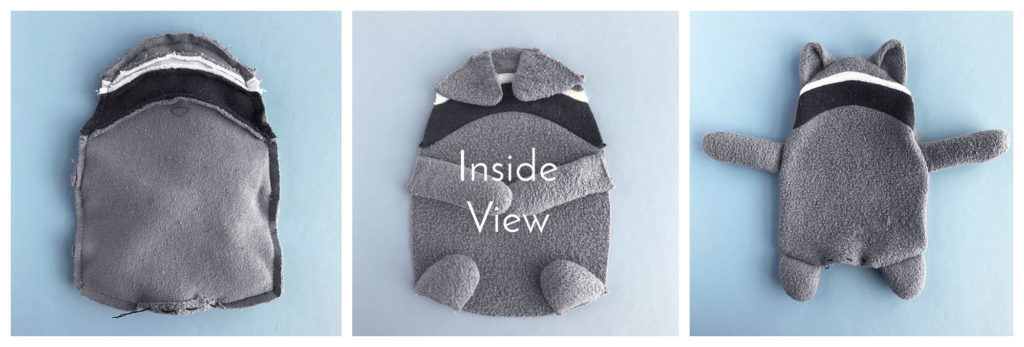 6 Free Raccoon Sewing Pattern by Fluffmonger