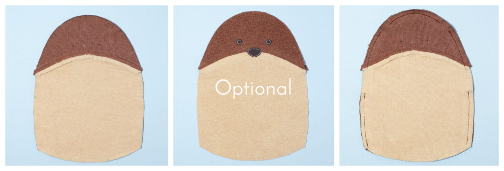 5 c Free Otter Sewing Pattern Fluffmonger Tutorial Triptych collage