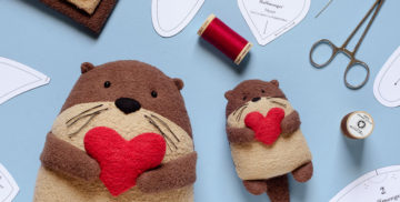 free otter sewing pattern Fluffmonger