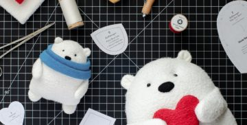 Fluffmonger free Sewing Pattern Polar Bear Blog Photo