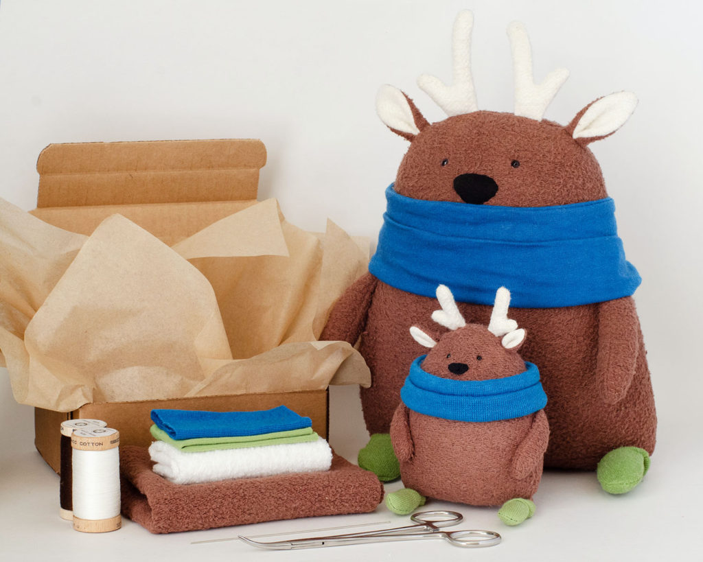 Fluffmonger Christmas plush free sewing pattern and kit Fluffmonger