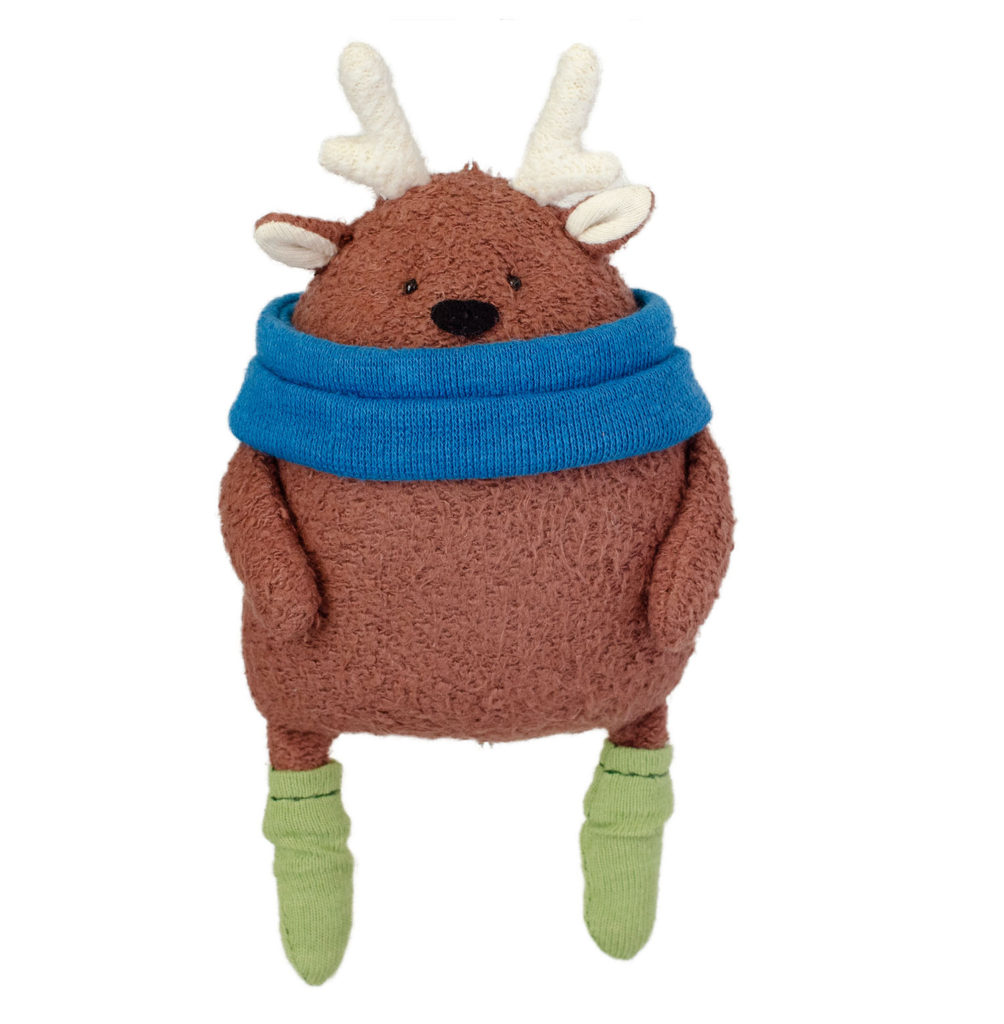 blog socks free reindeer sewing pattern and organic kit Fluffmonger