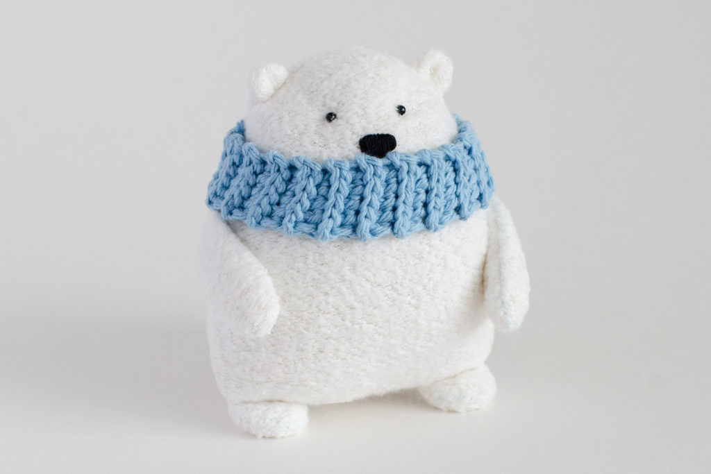 Fluffmonger Free Polar Bear Sewing Pattern Crochet Scarf