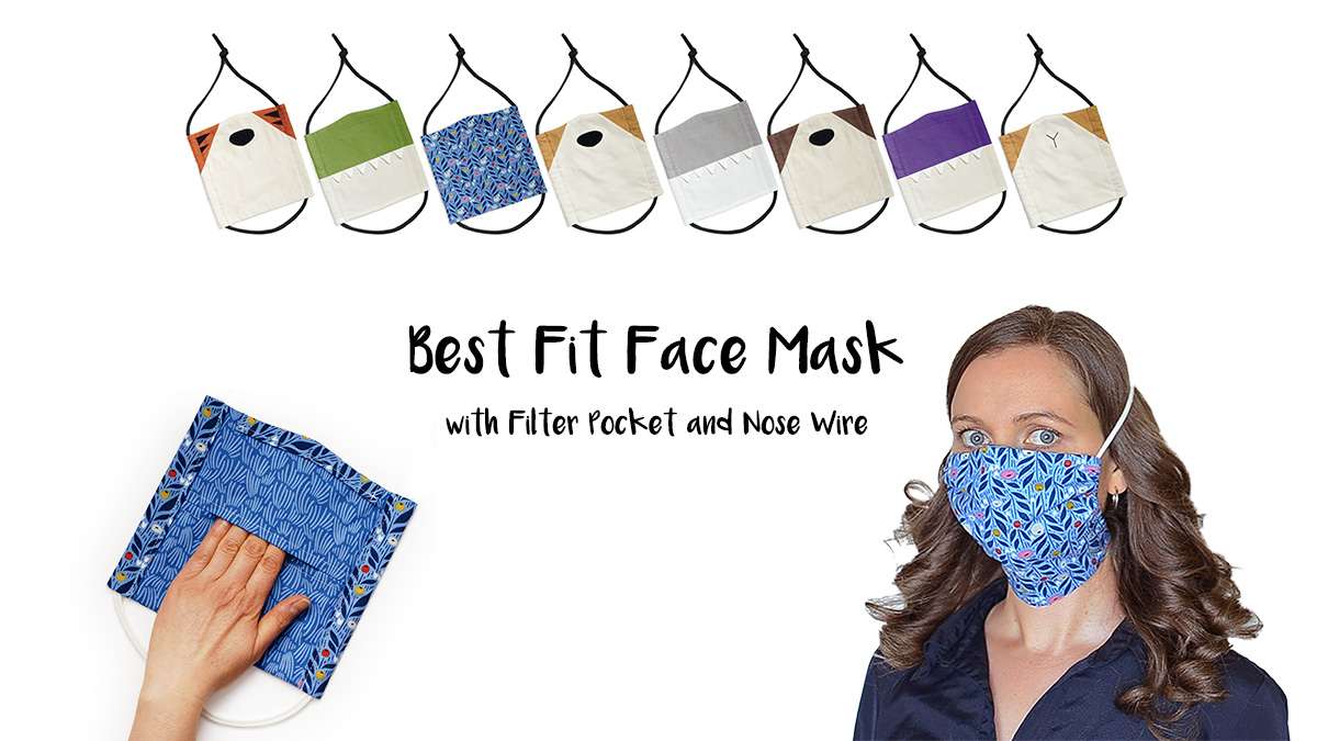 Easy To Sew Face Masks With Removable Nose Wire And Filter Pocket